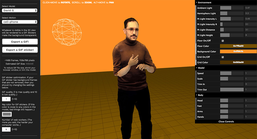 02552fc99 [2018] 3d2gif: A highly experimental web tool that exports hyper-realistic  3D scans to GIF stickers.